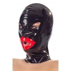 LateX - Maske med Røde Lepper