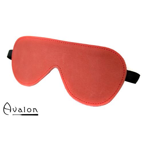 Avalon - DARK - Rødt Blindfold med plysj