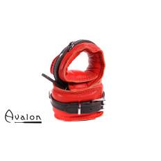 Avalon - ENSNARE - Polstrete Handcuffs Rød og Svart