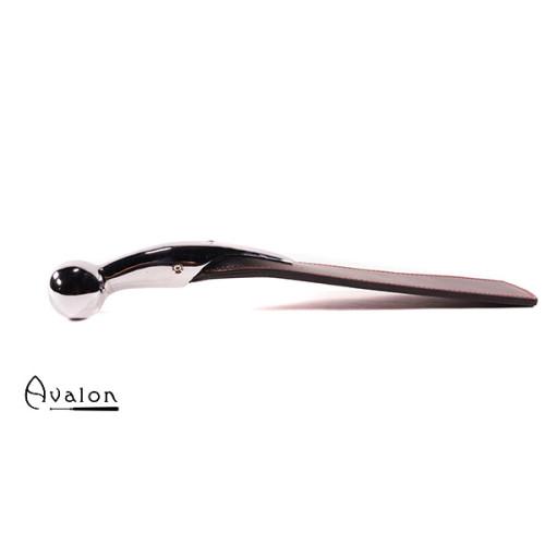 Avalon - CAMELOT - Sort og rød paddle med bøyd kulehåndtak