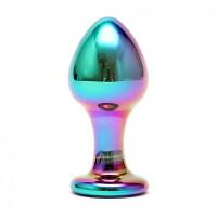 Sensual Glass Melany - Regnbuefarget Buttplug av Glass