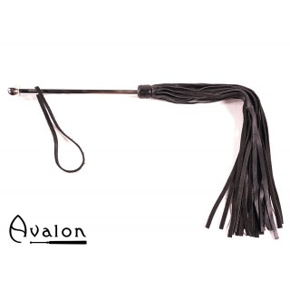 Avalon - SORCERESS - Sort flogger med langt metall håndtak