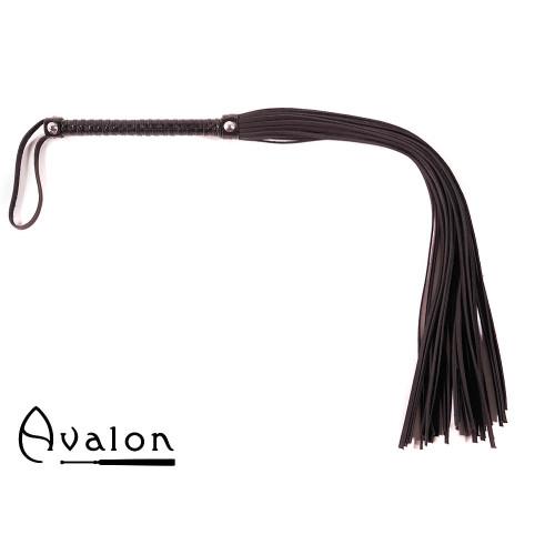 Avalon - BALIN -  Lang Svart Flogger med nagler på håndtaket
