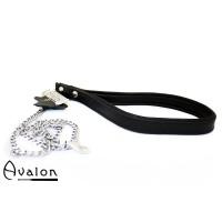 Avalon - COME HERE - Kjettinglenke med Lærhåndtak Svart