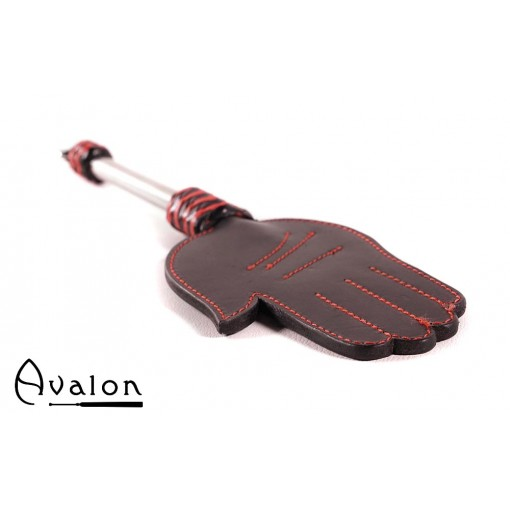 Avalon - GERAINT - Paddle med Håndform og Metallhåndtak med D-ring - Svart og Rød