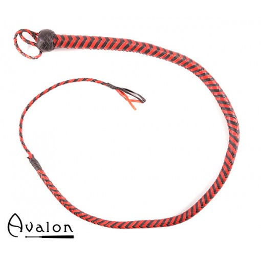 Avalon - SERPENT - Bullwhip heavy handle, Sort og rød 1,3 m