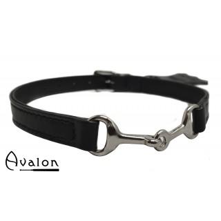 Avalon - Bit - Svart Collar med sølvfarget bitt