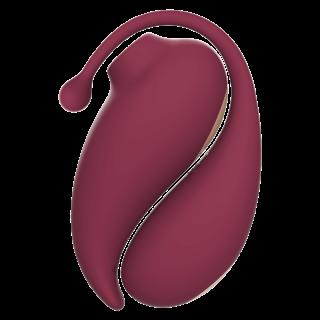 Inspiration - Vibrerende egg og trykkbølgestimulator med app - Gavesett Rødt